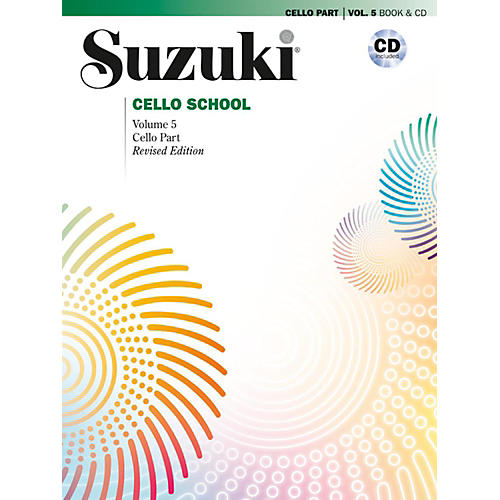 Suzuki Suzuki Cello School Cello Part & CD, Volume 5 Book & CD (Revised)
