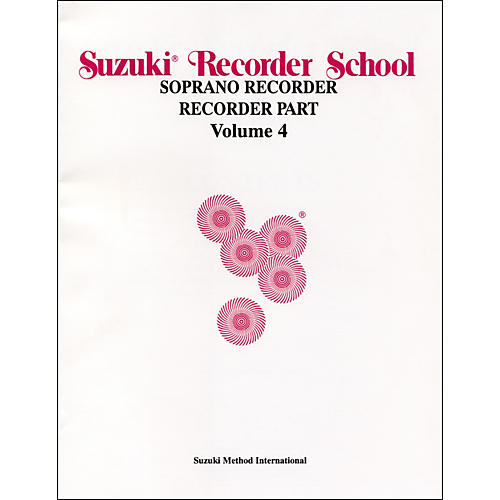 Alfred Suzuki Recorder School (Soprano Recorder) Recorder Part Volume 4