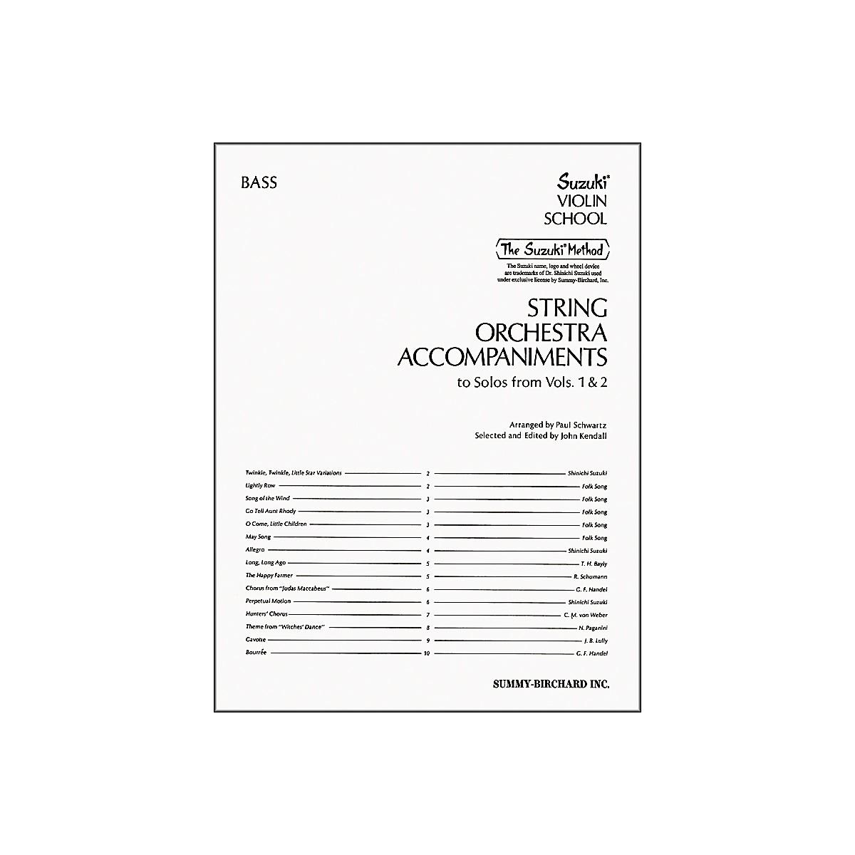 Alfred Suzuki String Orchestra Accompaniments, Bass (Book)
