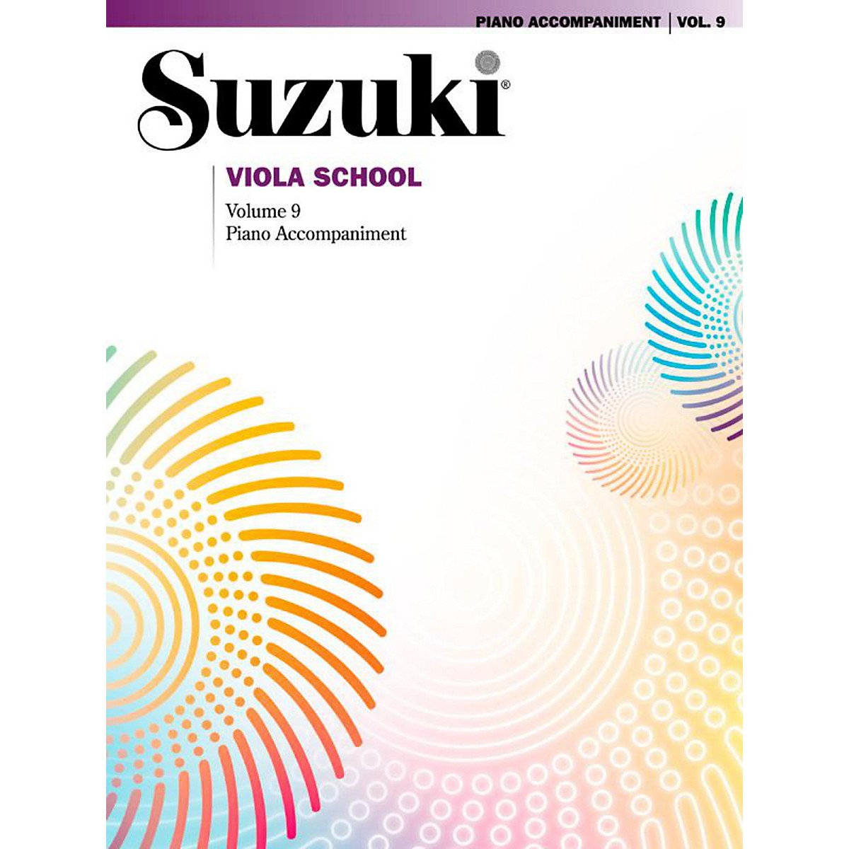 Suzuki Suzuki Viola School Piano Acc. Volume 9 Book