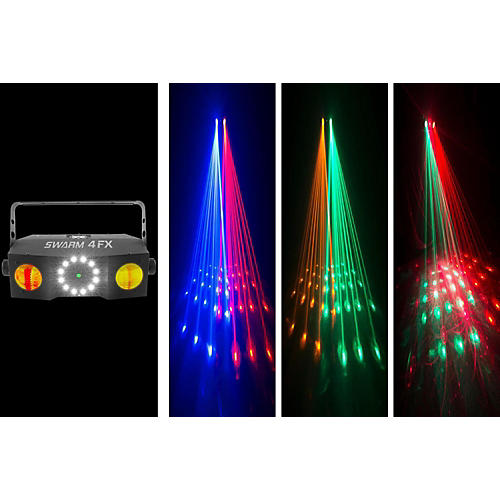 CHAUVET DJ Swarm 4 FX Stage Laser Party Light with LED Wash and Strobe Light Effects
