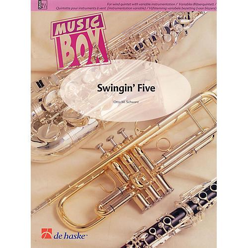 De Haske Music Swingin' Five (Music Box Variable Wind Quintet plus Percussion) Concert Band Level 2.5 by Otto M. Schwarz