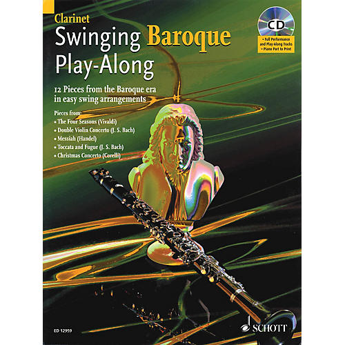 Schott Swinging Baroque Play-Along for Clarinet Misc Series BK/CD