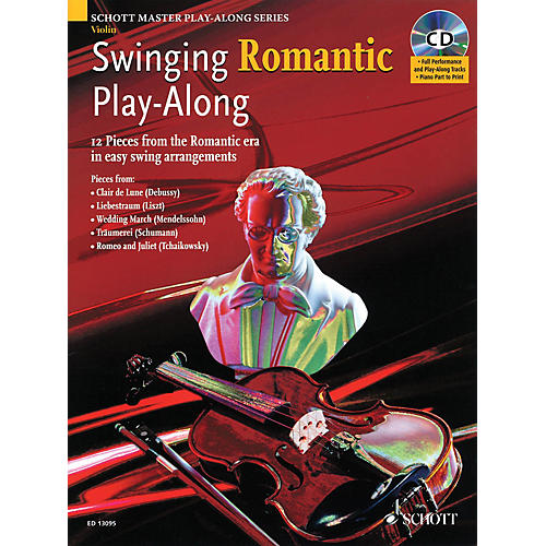 Schott Swinging Romantic Play-Along Instrumental Folio Series Softcover with CD