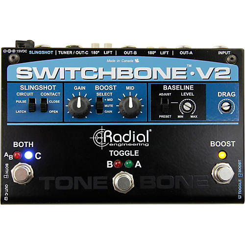 Radial Engineering Switchbone V2 ABY/C Amp Selector and Booster Pedal
