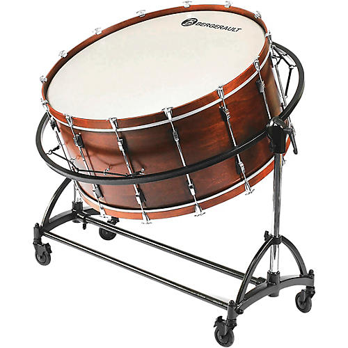 """Bergerault Symphonic Series Bass Drum, 36x22"""" With Suspension Stand"""
