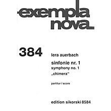 Sikorski Symphony No. 1 Chimera (Study Score) Score Composed by Lera Auerbach