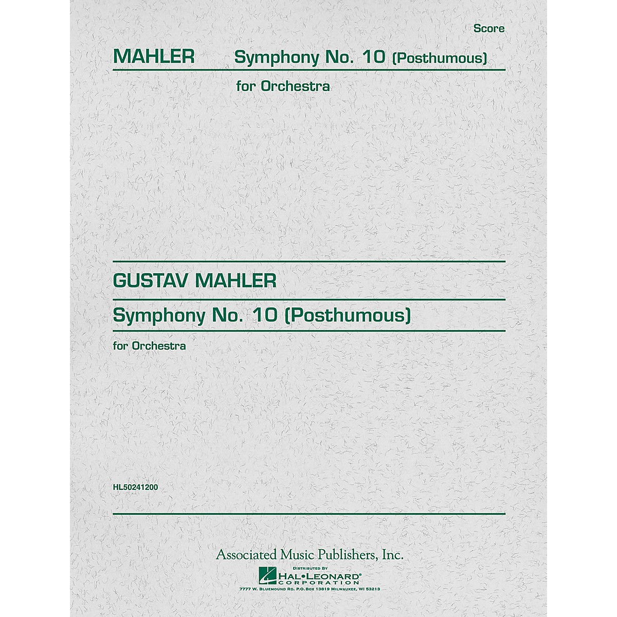 Associated Symphony No. 10 (Study Score) Study Score Series Composed by Gustav Mahler
