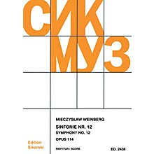 Sikorski Symphony No. 12, Op. 114 (Study Score) Score Series Softcover Composed by Mieczyslaw Weinberg