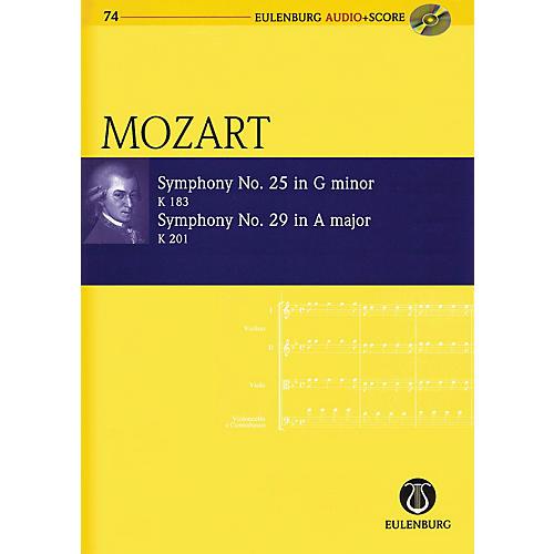 Eulenburg Symphony No. 25 G Minor K183 and Symphony No. 29 A Major K201 Eulenberg Audio plus Score by Mozart