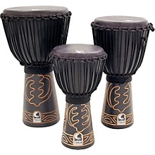 Toca Synergy Black Mamba Djembe with Bag and Djembe Hat Level 1 12 in.