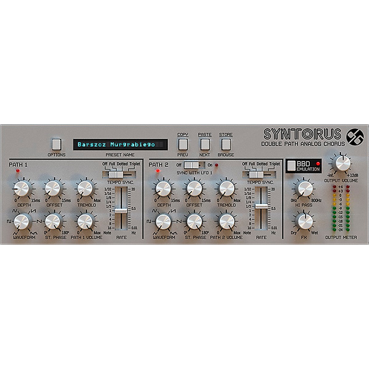 D16 Group Syntorus Double Path Analog Chorus (VST/AU) Software Download