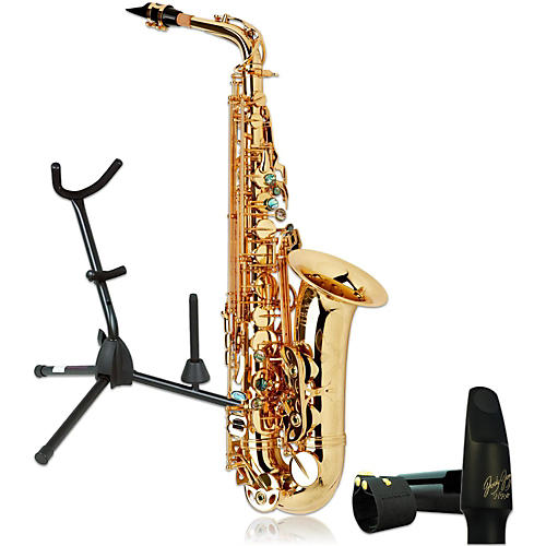 P. Mauriat System-76AGL Professional Gold Lacquered Alto Saxophone Kit