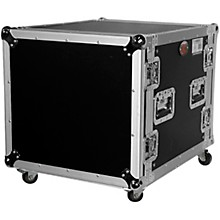 """ProX T-10RSS 10U 10-Space Amp Rack Mount ATA Flight Case 19"""" Depth with Casters"""