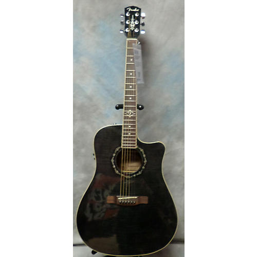 Fender T Bucket 300CE Trans Black Acoustic Electric Guitar