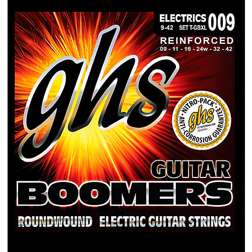 GHS T-GBXL Tremolo Boomer Extra Light Electric Guitar Strings