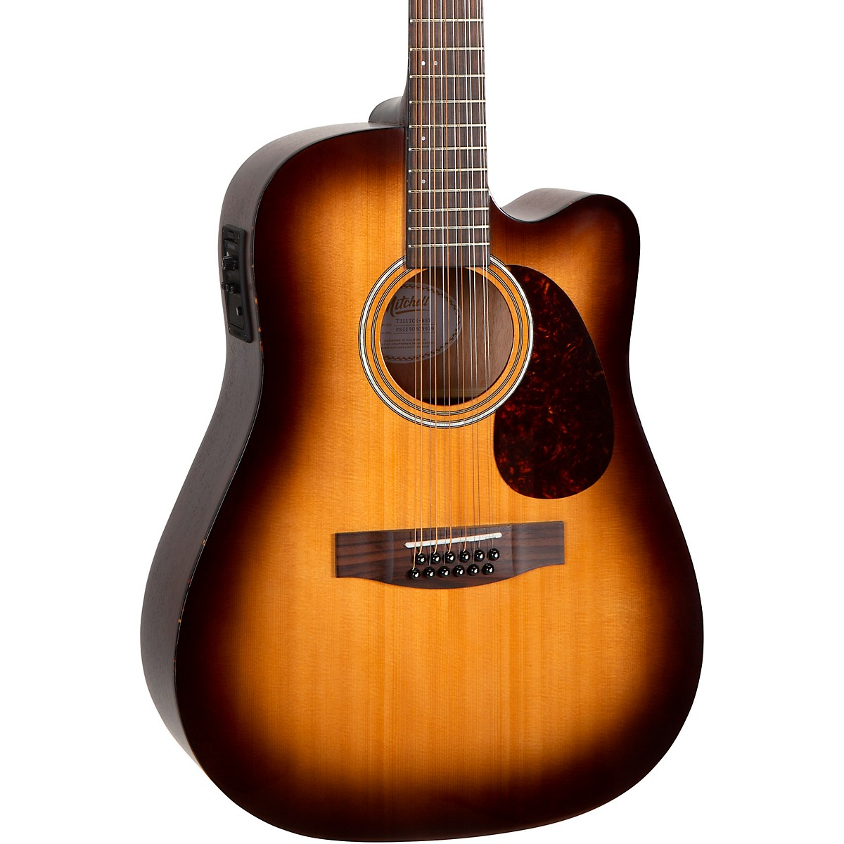 Mitchell T311TCE-BST Terra 12 String Acoustic Electric Dreadnaught Spruce Top Guitar