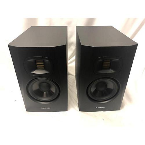 used adam audio t5v pair powered monitor guitar center. Black Bedroom Furniture Sets. Home Design Ideas