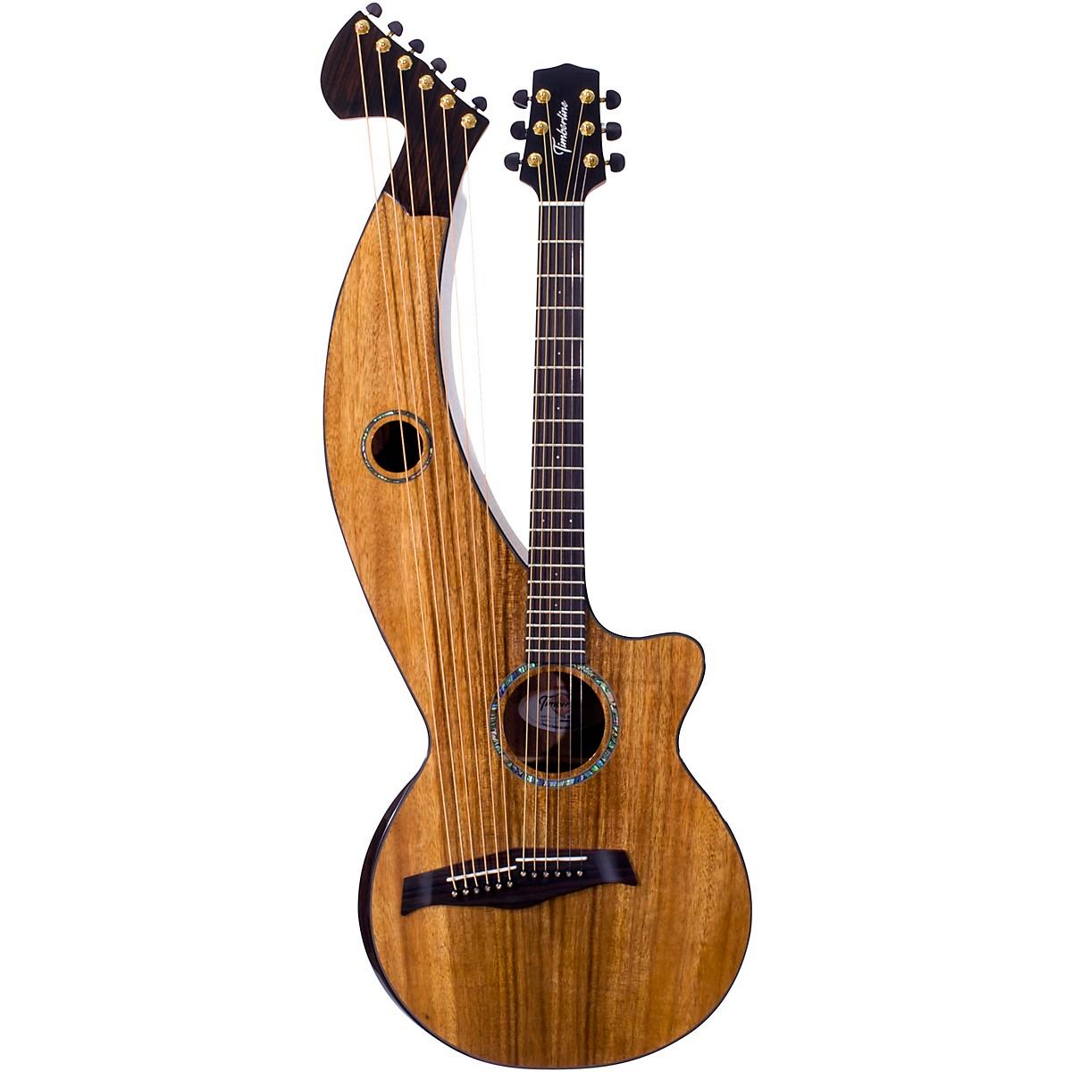 Timberline Guitars T70HGc Solid Silkwood 12-String Cutaway Acoustic Harp Guitar