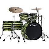 TAMA TAMA Starclassic Walnut/Birch 5-Piece Shell Pack with 22 in. Bass Drum with Black Nickel Hardware Neon Yellow Oyster