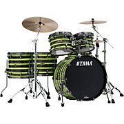 TAMA Starclassic Walnut/Birch 5-Piece Shell Pack with 22 in. Bass Drum with Black Nickel Hardware Neon Yellow Oyster