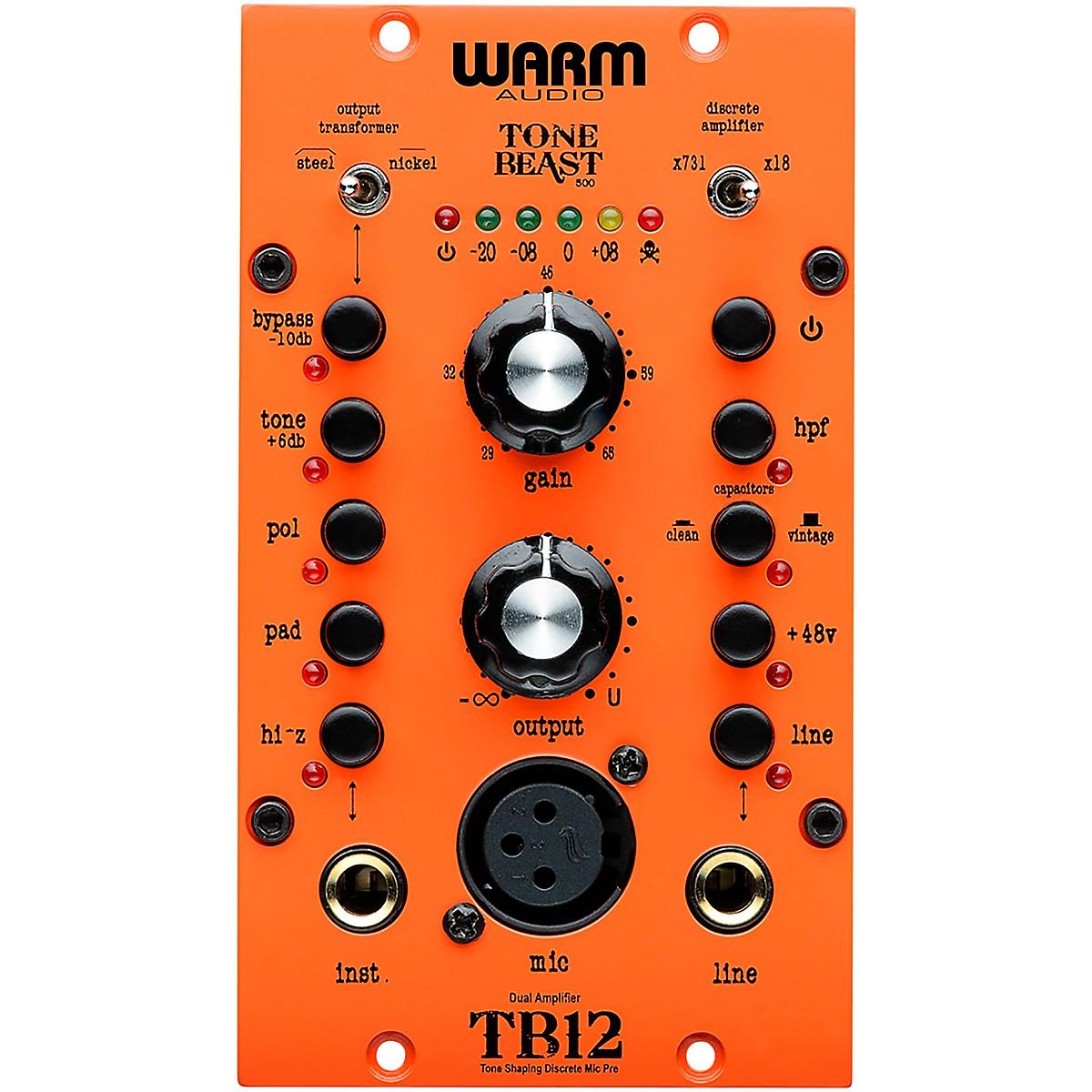Warm Audio TB12-500 Tone Beast 500 Series Microphone Preamp