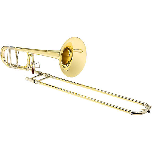 S.E. SHIRES TBQ30R Q-Series Professional F-Attachment Trombone Lacquer Yellow Brass Bell