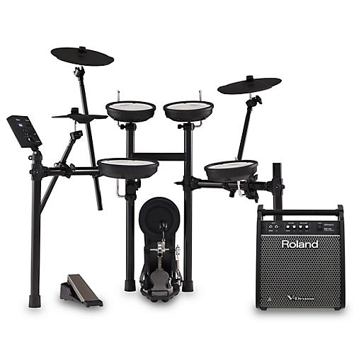 Roland TD-07KV V-Drums Electronic Drum Set with PM-100 V-Drum Speaker System