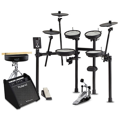 Roland TD-1DMK Electronic Drum Set with PM100 Speaker System Premium Bundle