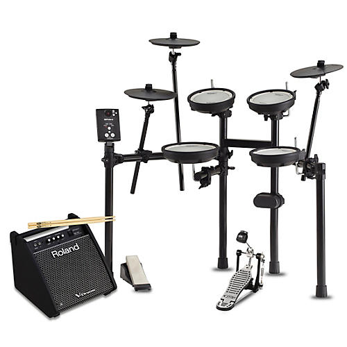 Roland TD-1DMK Electronic Drum Set with PM100 V-Drum Speaker System Starter Bundle