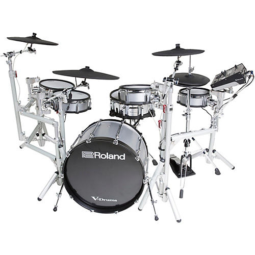 Roland TD-50KV-RM V-Drums Kit with Custom Wrap, KD-A22P-RM Bass Drum and Custom Randy May Rack