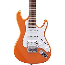 TD100 Short-Scale Electric Guitar Orange 3-Ply White Pickguard