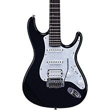 TD400 Double Cutaway Electric Guitar Black White Pearloid Pickguard