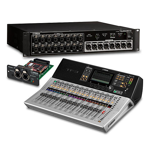yamaha tf3 24 ch digital mixer with tio1608 d dante stage box and expansion card guitar center. Black Bedroom Furniture Sets. Home Design Ideas