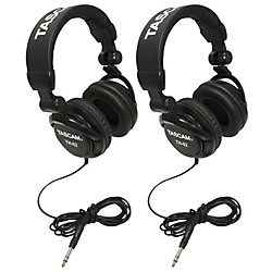 TH-02 Recording Studio Headphones, 2-Pack, Black