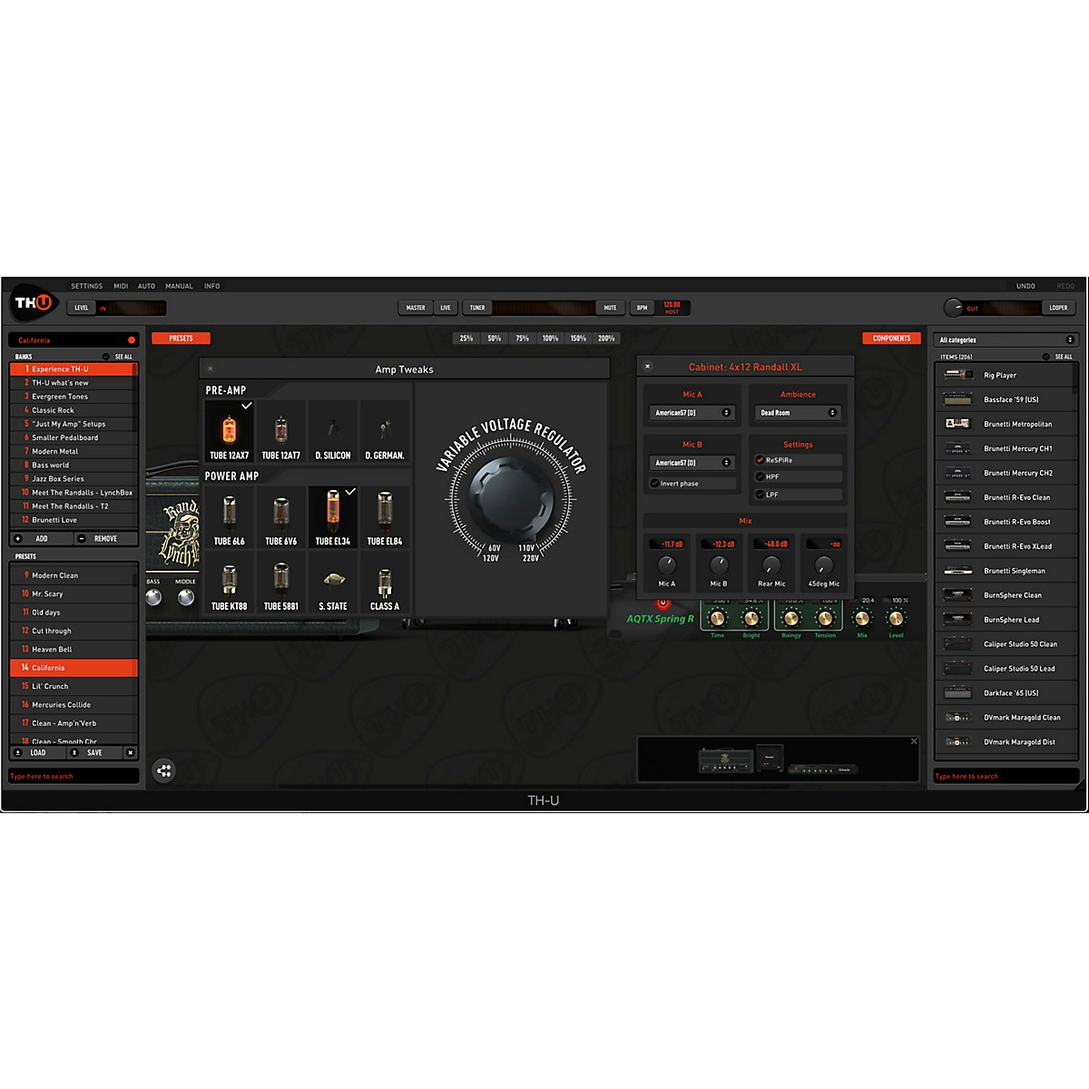 Overloud THU Full Upgrade from any TH-3 Edition (Rock, Metal, Funk and R&B)