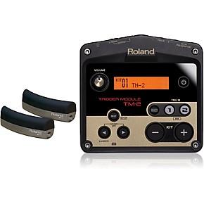 roland tm 2 drum trigger module with 2 bt 1 bar trigger pads guitar center. Black Bedroom Furniture Sets. Home Design Ideas