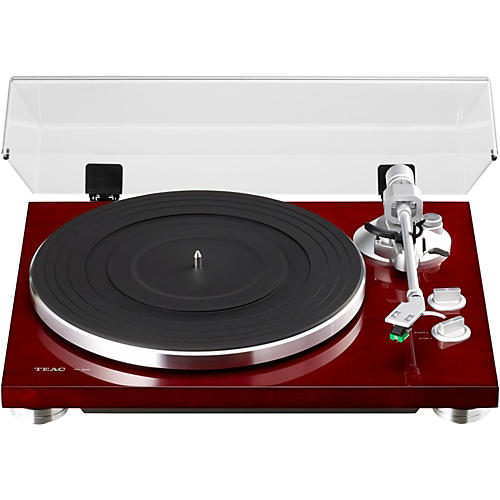 teac tn 300 analog record player with phono eq and usb cherry guitar center. Black Bedroom Furniture Sets. Home Design Ideas