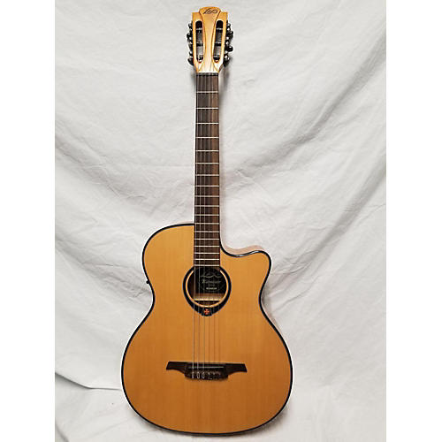 used lag guitars tn66ace classical acoustic electric guitar guitar center. Black Bedroom Furniture Sets. Home Design Ideas