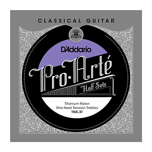 D'Addario TNX-3T Pro-Arte Extra Hard Tension Classical Guitar Strings Half Set
