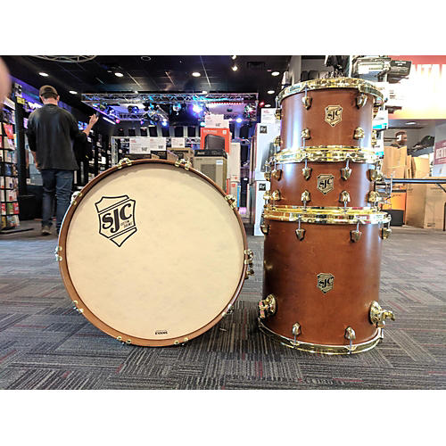 used sjc drums tour series drum kit golden ochre guitar center