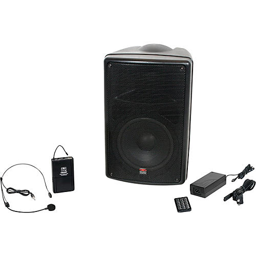 Galaxy Audio TQ8-20S0N Traveler Quest 8 All-in-one Portable Bluetooth PA System with Wireless Transmitter and Headset Microphone