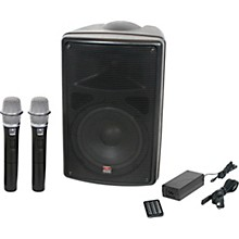 Galaxy Audio TQ8-24HHN Traveler Quest 8 TQ8 Battery Powered PA Speaker With 2 Receivers And Two Handheld Microphones Level 1