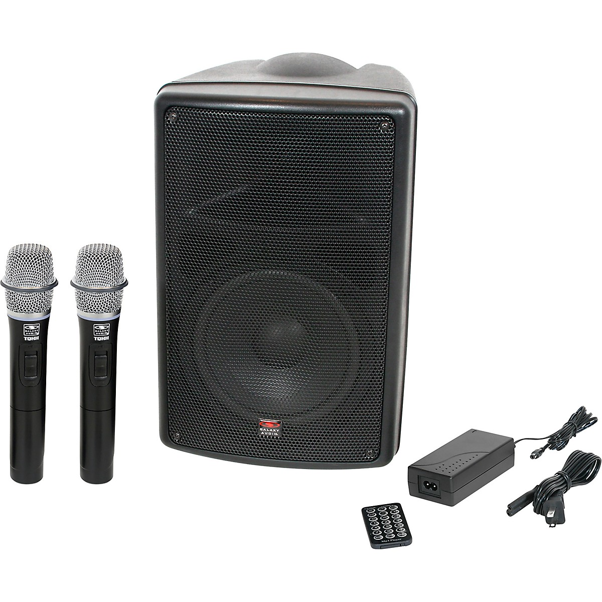 Galaxy Audio TQ8-24HHN Traveler Quest 8 TQ8 Battery Powered PA Speaker With 2 Receivers And Two Handheld Microphones