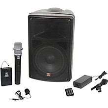 Galaxy Audio TQ8-24VHN Traveler Quest 8 TQ8 Battery Powered PA Speaker With 2 Receivers, One Lavalier and One Handheld Microphone
