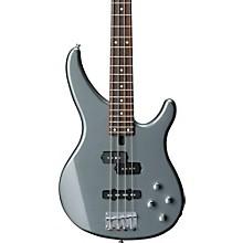 TRBX204 Active Electric Bass Guitar Gray Metallic