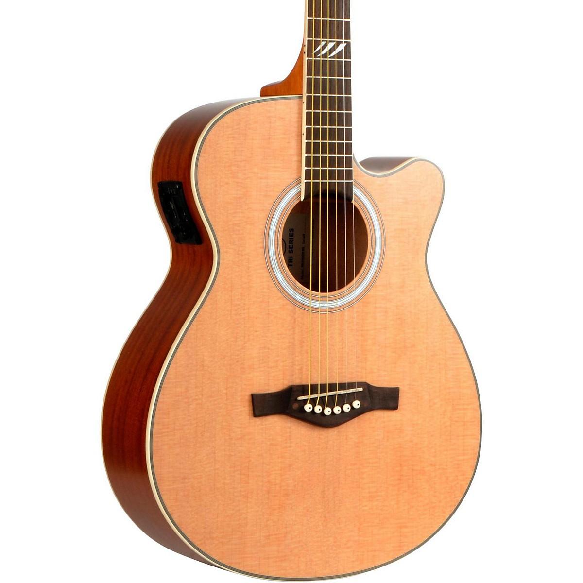 EKO TRI Series Auditorium Cutaway Acoustic-Electric Guitar