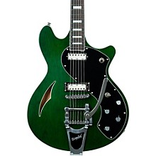 TSH-1B Semi-Hollow Body Electric Guitar Emerald Green