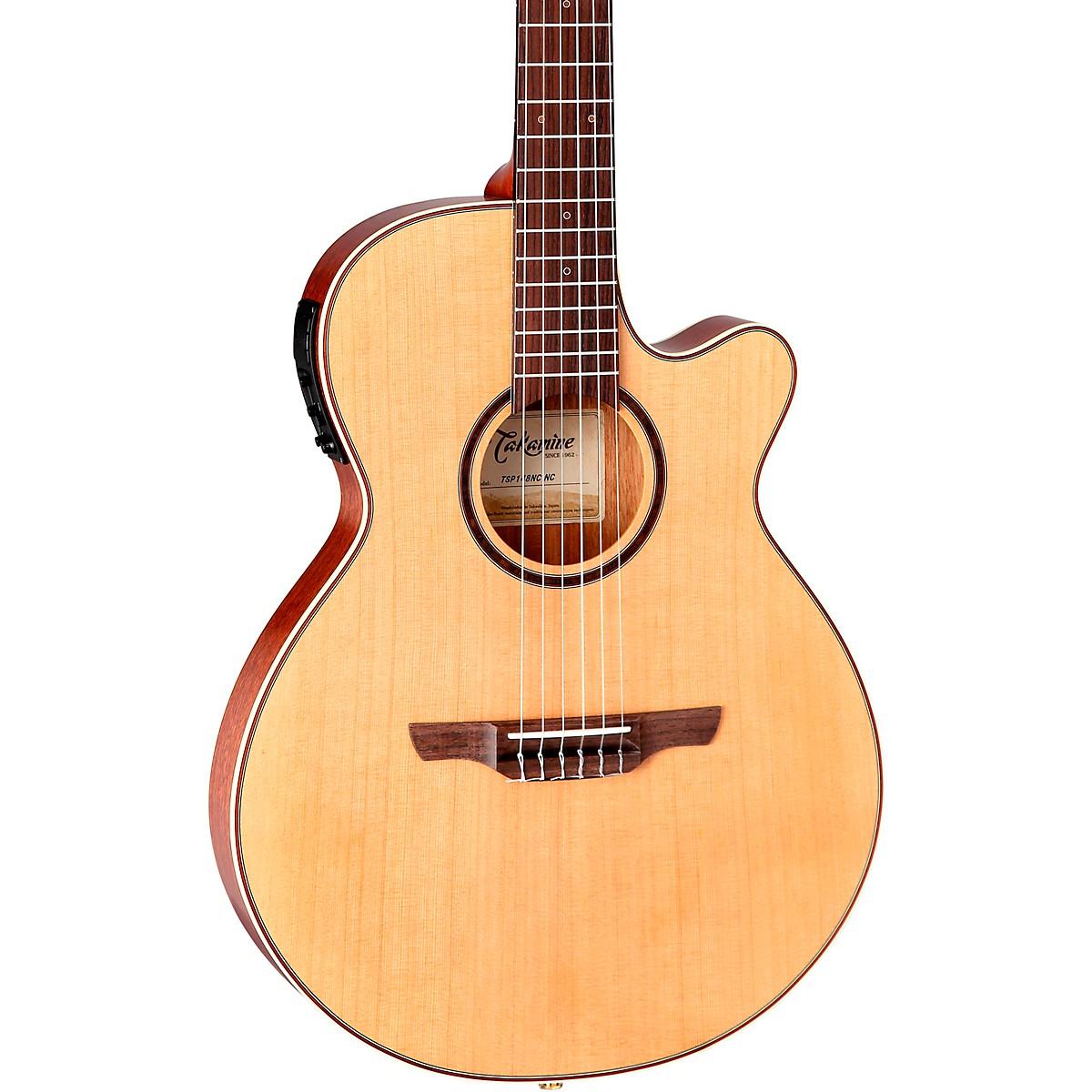 Takamine TSP148NC Nylon Thinline Acoustic-Electric Guitar
