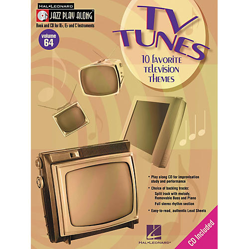 Hal Leonard TV Tunes - 10 Favorite Television Themes Jazz Play Along Volume 64 Book with CD